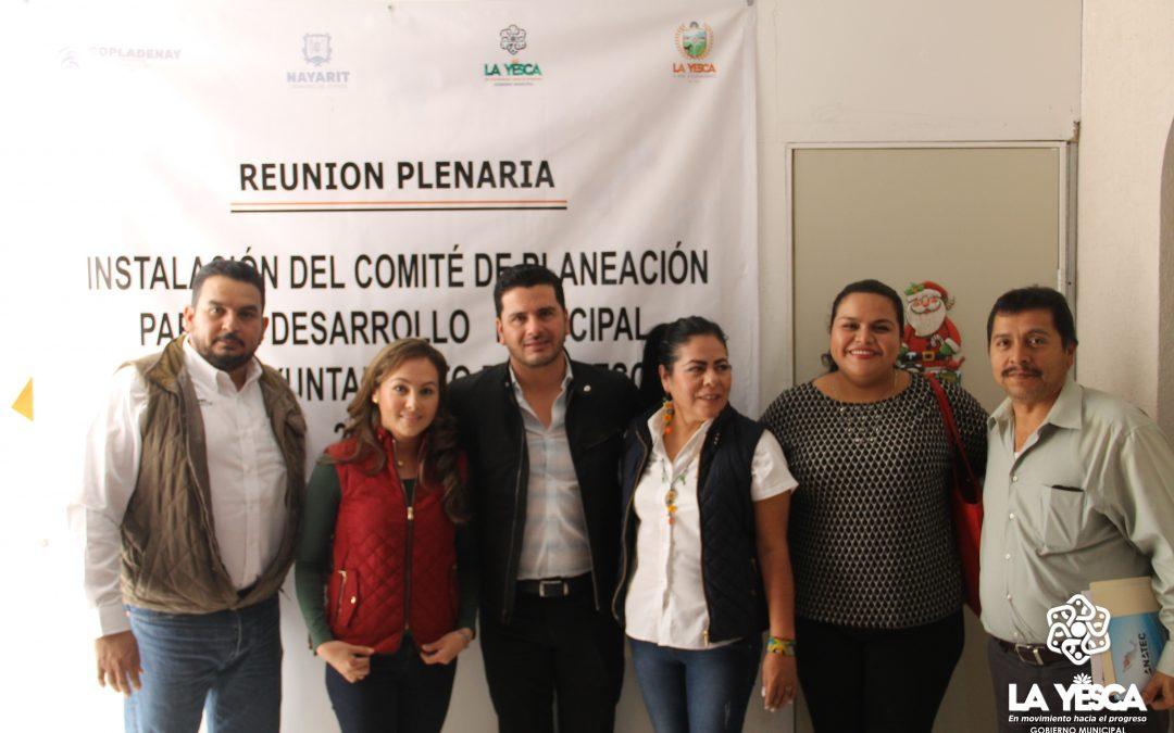 INSTALACIÓN DE EL COMITÉ DE PLANEACIÓN PARA EL DESARROLLO MUNICIPAL DEL H. XXXI AYUNTAMIENTO DE LA YESCA